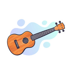 classical acoustic guitar or ukulele vector image