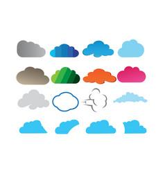 clouds set design logo vector image