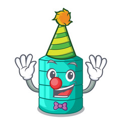 Clown cartoon water tank for in agriculture vector