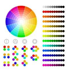 Color wheel with shade colorscolor harmony vector