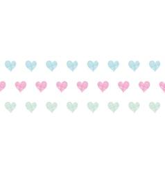 Colorful polka dot textile hearts horizontal vector image