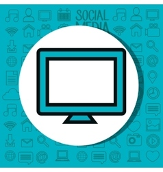 computer desktop technology isolated icon vector image