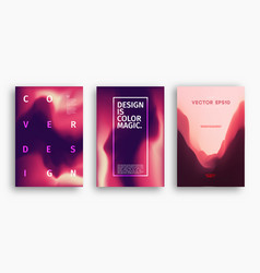 cover design template with blue pink magenta vector image