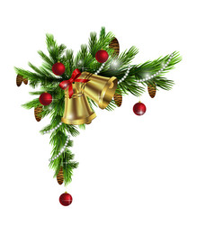 cristmas corner decorations vector image