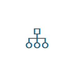 diagram icon line design business icon vector image