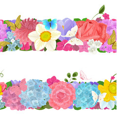 elegant collection horizontal borders from vector image vector image