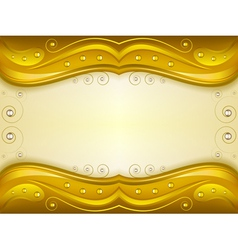 Fantasy golden background vector image
