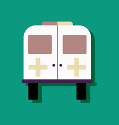 Flat icon design collection ambulance with a vector