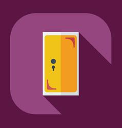 Flat modern design with shadow icons door vector