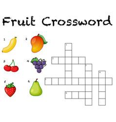 Fun fruit crossword background vector