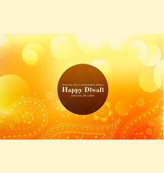 happy diwali wallpaper with paisley pattern vector image