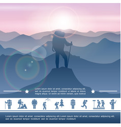 hiking activity concept vector image
