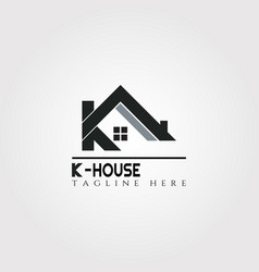 House icon template with k letter home creative vector