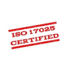 Iso 17025 certified watermark stamp vector