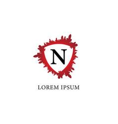 Letter n alphabet logo design template splash of vector