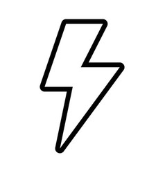 line energy hazard sign to electrical warning vector image