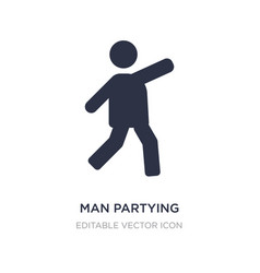 Man partying icon on white background simple vector