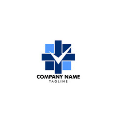 medical check logo template vector image