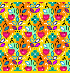 Mexican folk seamless pattern vector