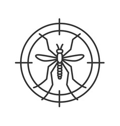 Mosquitoes target linear icon vector