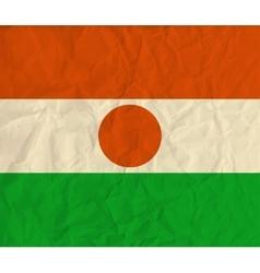 Niger paper flag vector