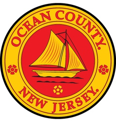 Ocean county seal vector image