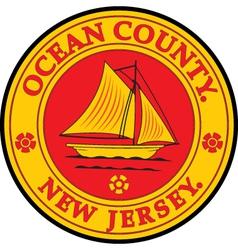 Ocean county seal vector