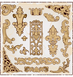 Pattern in rococo style vector