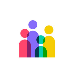 people community team family overlapping color vector image