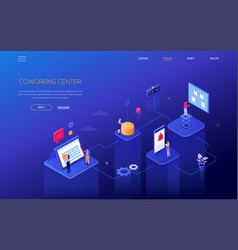 planning system - modern isometric web vector image