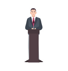 Politician government worker presidential vector