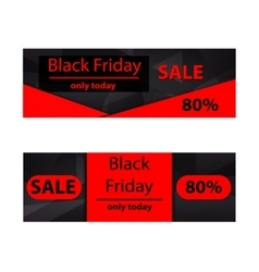 Polygonal banners Black Friday vector