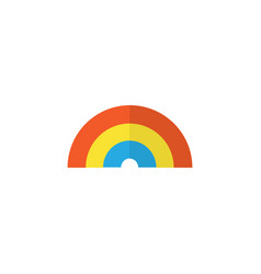 Rainbow flat icon symbol premium quality isolated vector