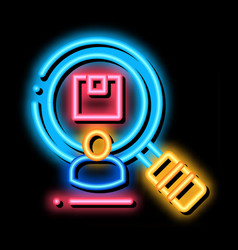 Research product for buy neon glow icon vector