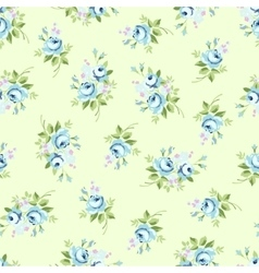 Seamless floral pattern with blue rose vector