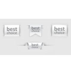 Set of paper labels vector