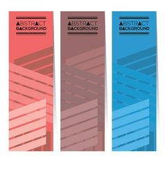 Set Of Three Colorful Abstract Vertical Banners vector