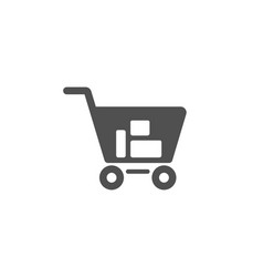 shopping cart simple icon online buying sign vector image