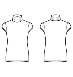 Short-sleeve turtleneck vector image