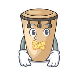 Silent conga mascot cartoon style vector