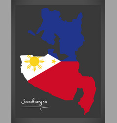 soccsksargen map of the philippines with vector image