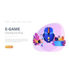 sports games concept landing page vector image