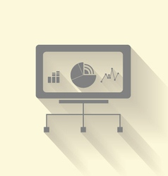 Stock screen icon vector image