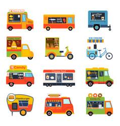 street food festival color trailer vector image