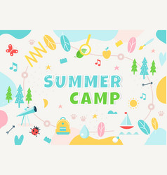 Summer camp community center club or outdoor vector