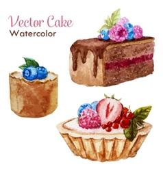 Tasty cakes vector