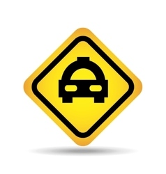 Traffic sign concept icon car taxi vector