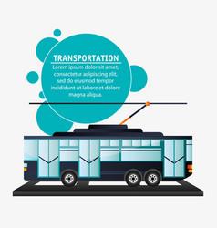 tram urban passenger transport vector image