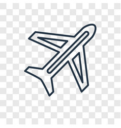 Traveling concept linear icon isolated on vector