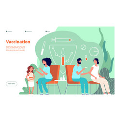 vaccination landing page flu vaccine baby vector image